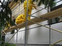 Утепление каркасных стен дома пенопластом