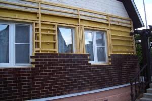 каркас для бетонных панелей из брусьев